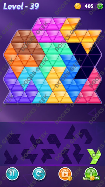 Block! Triangle Puzzle Challenger Level 39 Solution, Cheats, Walkthrough for Android, iPhone, iPad and iPod