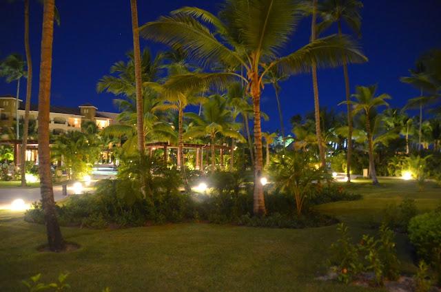 À noite no hotel.