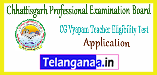CG Vyapam Chhattisgarh Professional Examination Board TET Application 2017