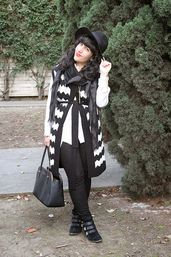 Sleeveless Wool Sweater Outfit