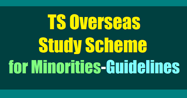 Telangana/TS Overseas Study Scheme for Minorities-Guidelines