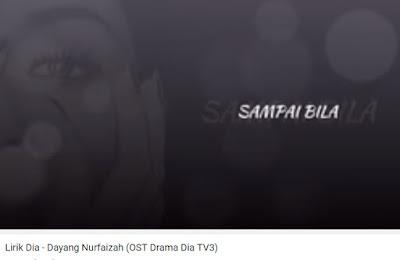 Lirik Lagu Dia ( Ost Drama Dia TV3 )