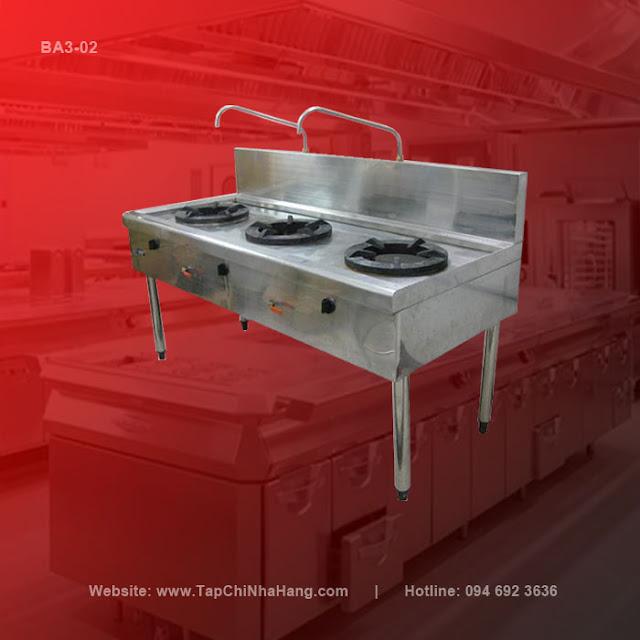 Bếp Á công nghiệp thường 3 họng nấu