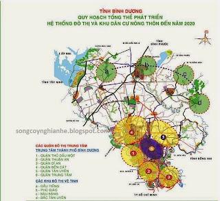 Quy hoạch tổng thể bình dương đến năm 2020