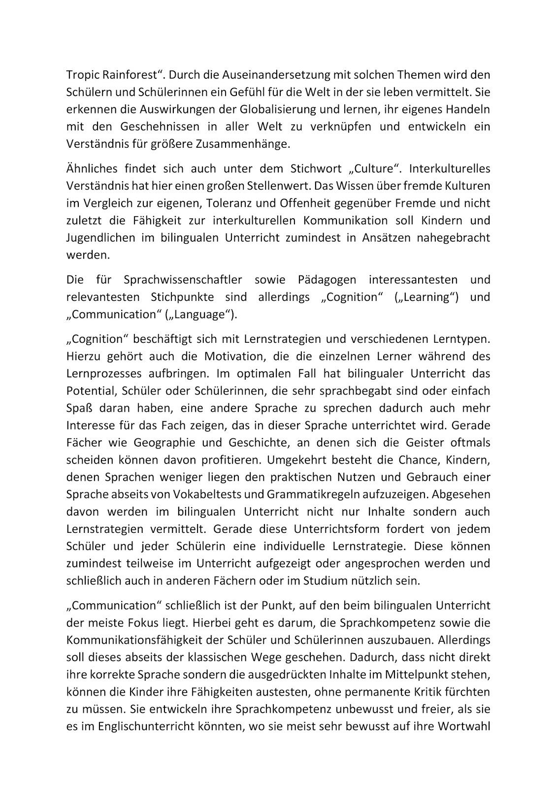 Einführung in die Fachdidaktik: Bilingualer Unterricht - Didaktische ...