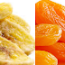 Dry fruits rich food in carbohydrates