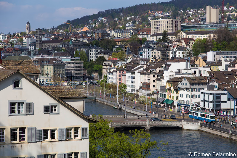 View of Zurich from The Lindenhof Hill What to Do One Day in Zurich