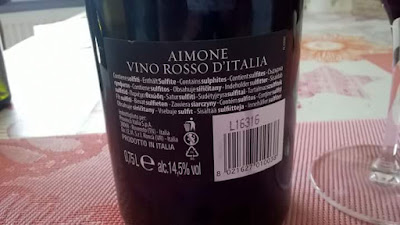 trasera, Aimone,vino, rosso, Italia, 14.5 grados, tinto,muy potente