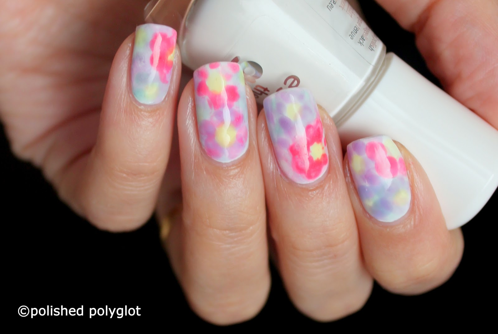 Nail flower designs do it yourself best flower 2017 how to paint simple cute fl sencilla flower nail art mani solutioingenieria Choice Image