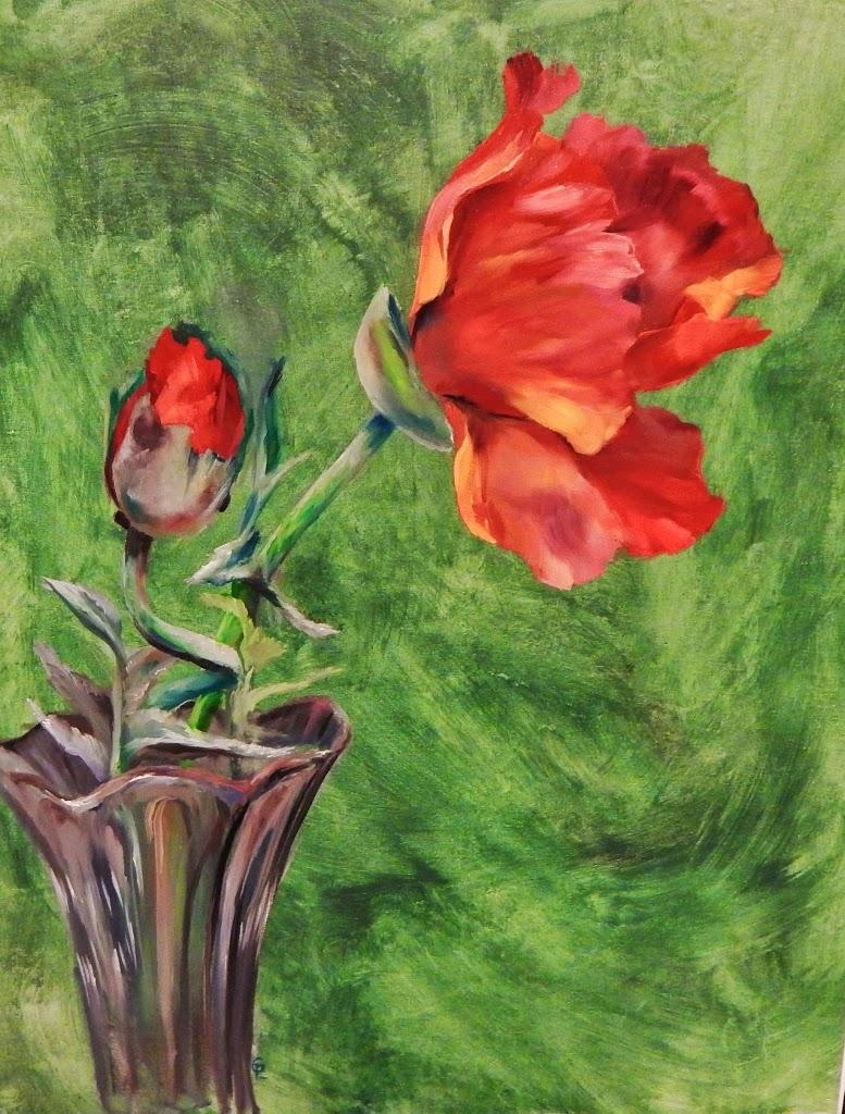 Gin Lammert Pastel & Oil: Poppy Love