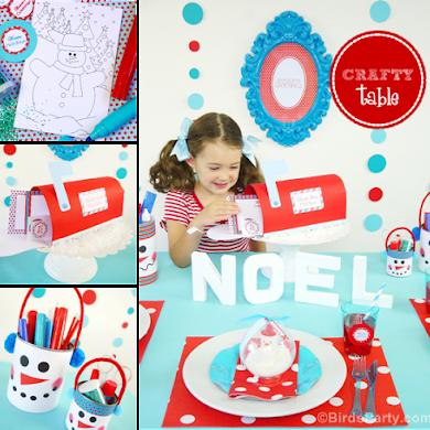 Table de Noel Créative Bonhomme de Neige