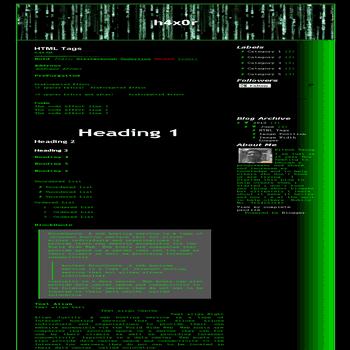 VB (Vio b374k) blogger Template (Clone of b374k Shell) - The