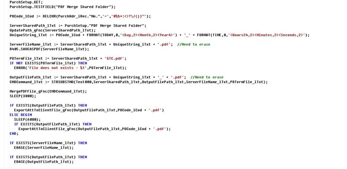 Microsoft Dynamics NAV: Merge PDF Files