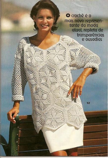 Patron Crochet Tunica en Picos