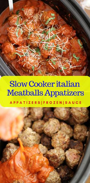 Slow Cooker Italian Meatballs Appatizers