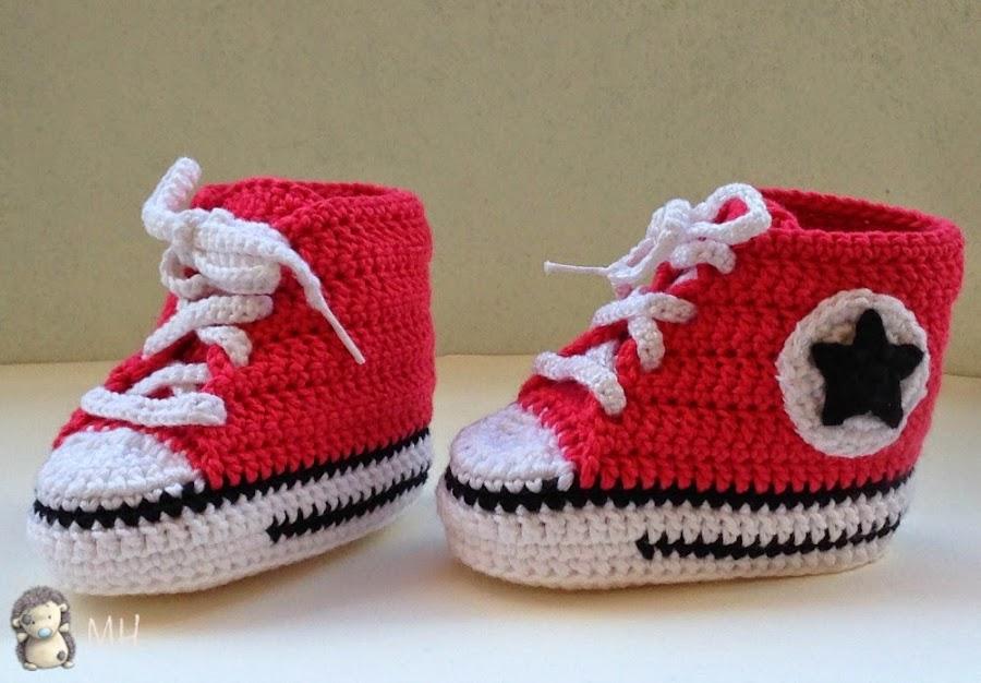 Ganchillo Santillana Zapatos Los Bebé Patrón Nike De qSzpMVGjLU