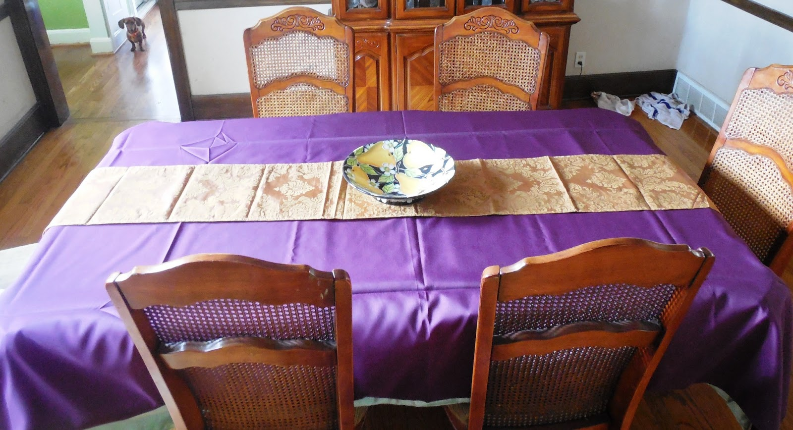 Balsa Circle Review And Giveaway The Nutritionist Reviews. Royal Blue Gold  Lotus Asian Inspired Table Runner