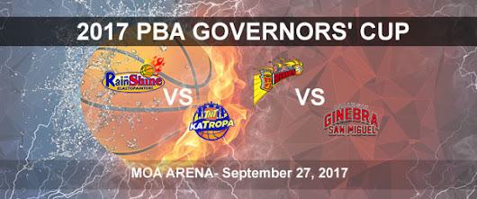 List of PBA Game(s) Wednesday September 27, 2017 @ MOA Arena