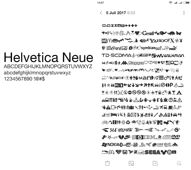 Helvetica Neue UNICODE & Symbol - Themes - Xiaomi MIUI