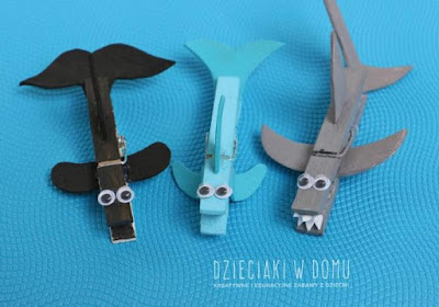 Clothespin Ocean Animals