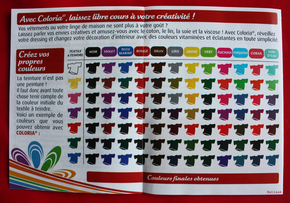 Coloria texture teinture