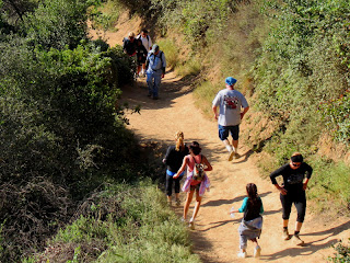 Foot traffic on Garcia Trail