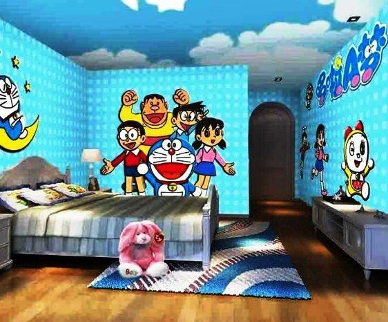 Gambar Desain Kamar Tidur Anak Perempuan Doraemon