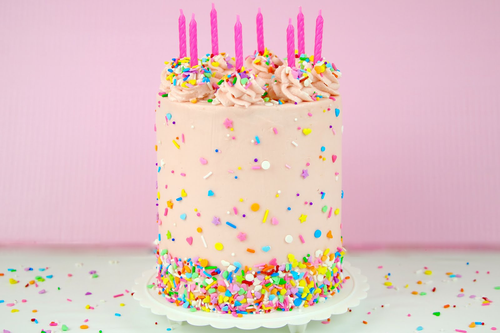 Fine Video The Best Homemade Funfetti Layer Cake From Scratch The Personalised Birthday Cards Paralily Jamesorg