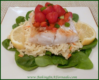 FAST Flavorful Fish Dinner | www.BakingInATornado.com | #recipe #fish