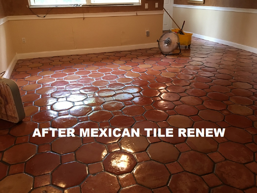 Mexican tile renew sarasota fl cleaning sealing mexican tile mexican tile renew project on tile floor in nokomis fl that had not been resurfaced in 20 years dailygadgetfo Image collections