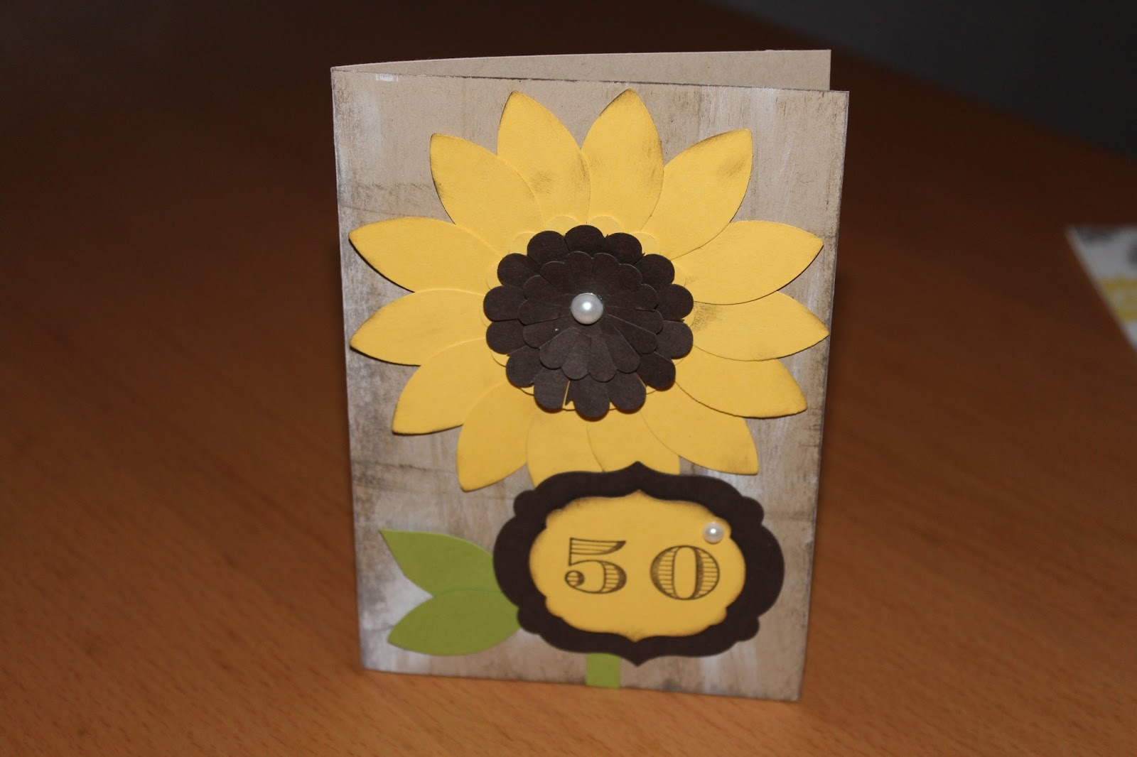 Für Eine Einladungskarte Zum 50. Geburtstag Mit Sonnenblumen Wünschte Sich  Eine Sehr, Sehr, Nette Nachbarin Von Mir. Ihr Wunsch War Mir Befehl! ; )