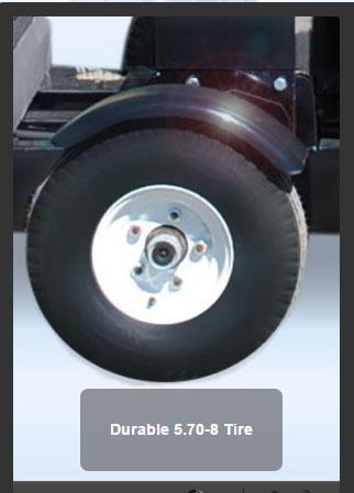 The Double Head Bathroom Trailer Durable Tire