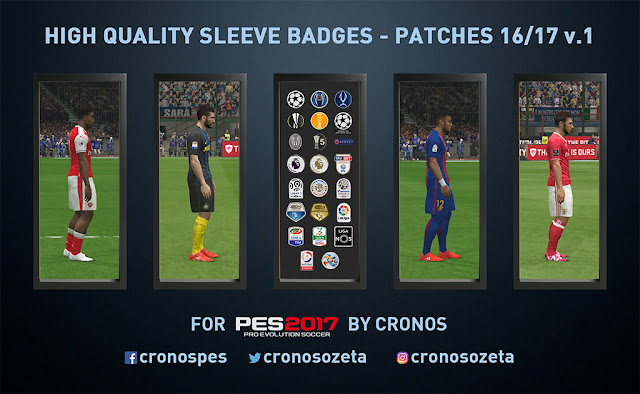 High Quality Sleeves Badges - Patchs Season 16/17 v1