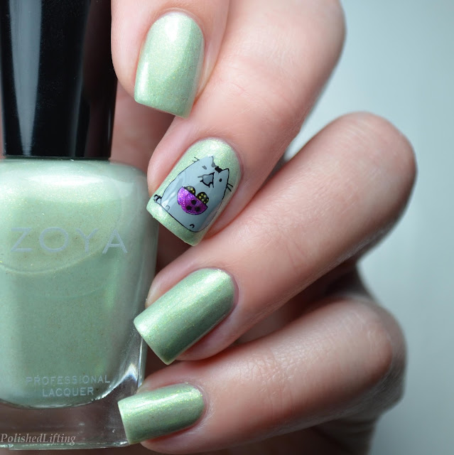 pusheen nail art