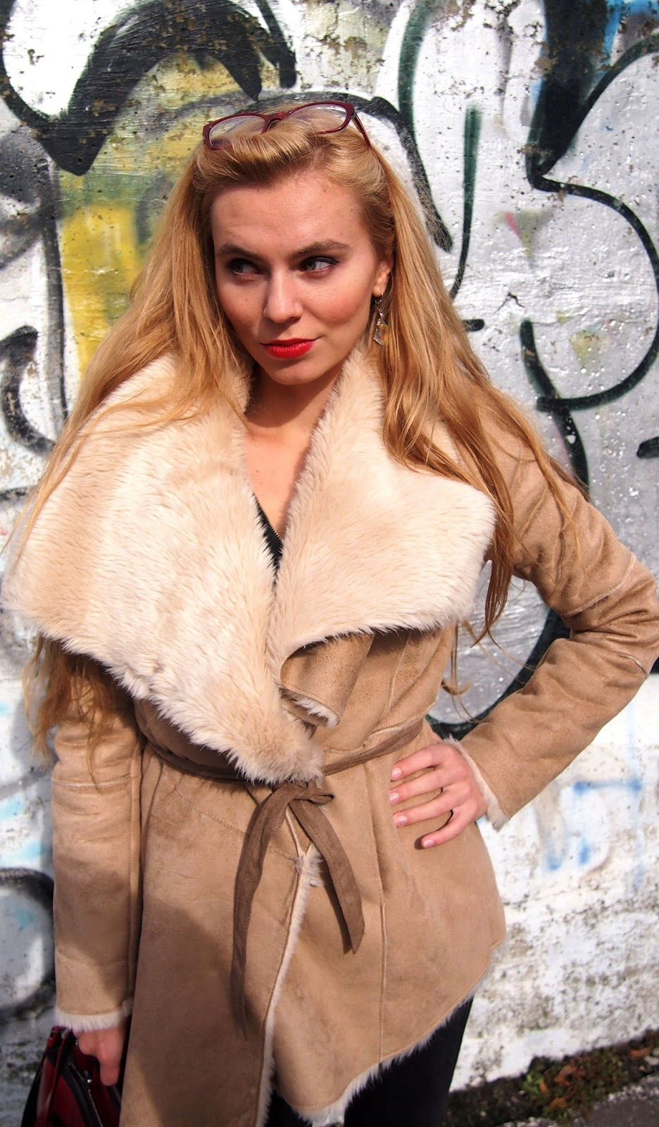 Jesenny outfit, bežový kabát. bershka kabát