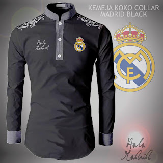 Baju Koko Kemeja Pria Collar Real Madrid