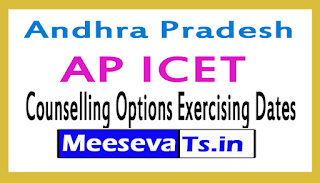 AP ICET Counselling Options Exercising Dates