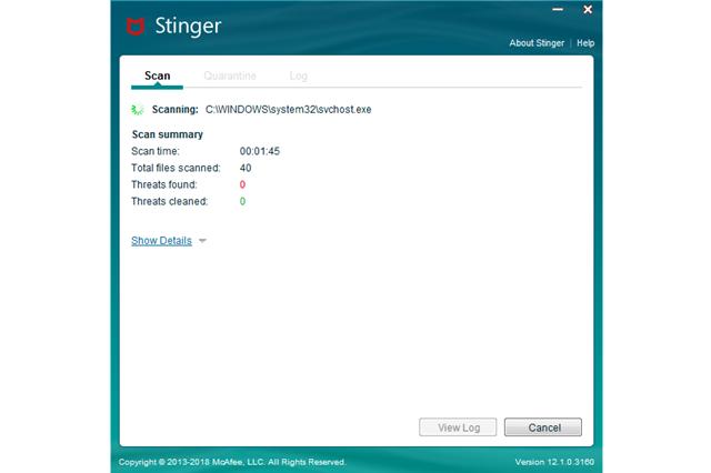 تحميل برنامج الحماية من الفيروسات والبرمجيات الخبيثة McAFee Stringer مجانا