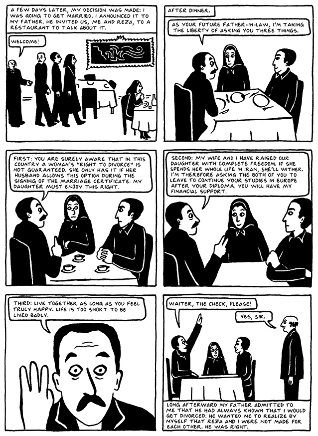Read Chapter 17 - The Wedding, page 159, from Marjane Satrapi's Persepolis 2 - The Story of a Return