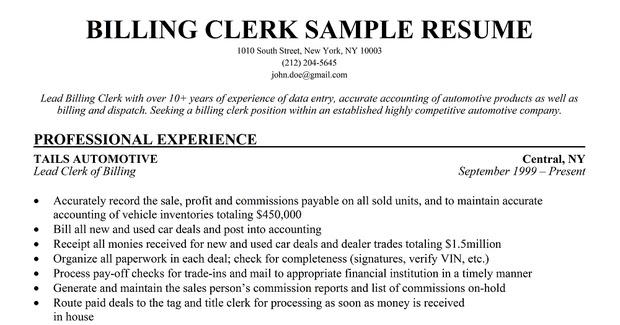 Resume Samples Produce Clerk Resume