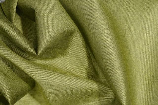 Peridot Green Cotton Silk Fabric