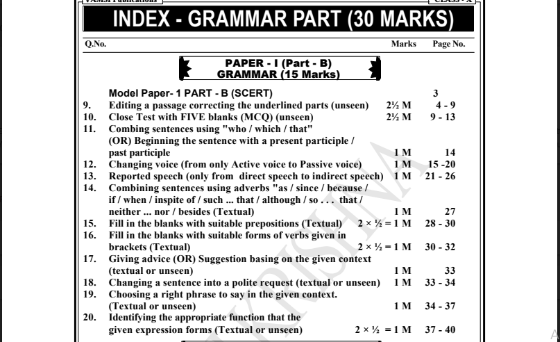 10th Standard English Grammar Book Pdf