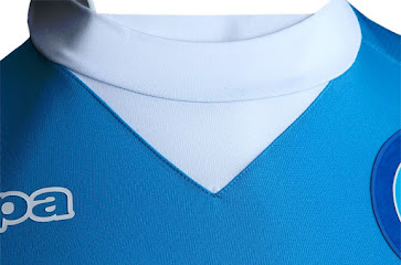 White shorts and sky blue socks complete the traditional design of the new  Kappa Napoli 15-16 Kit. 1e358c37e