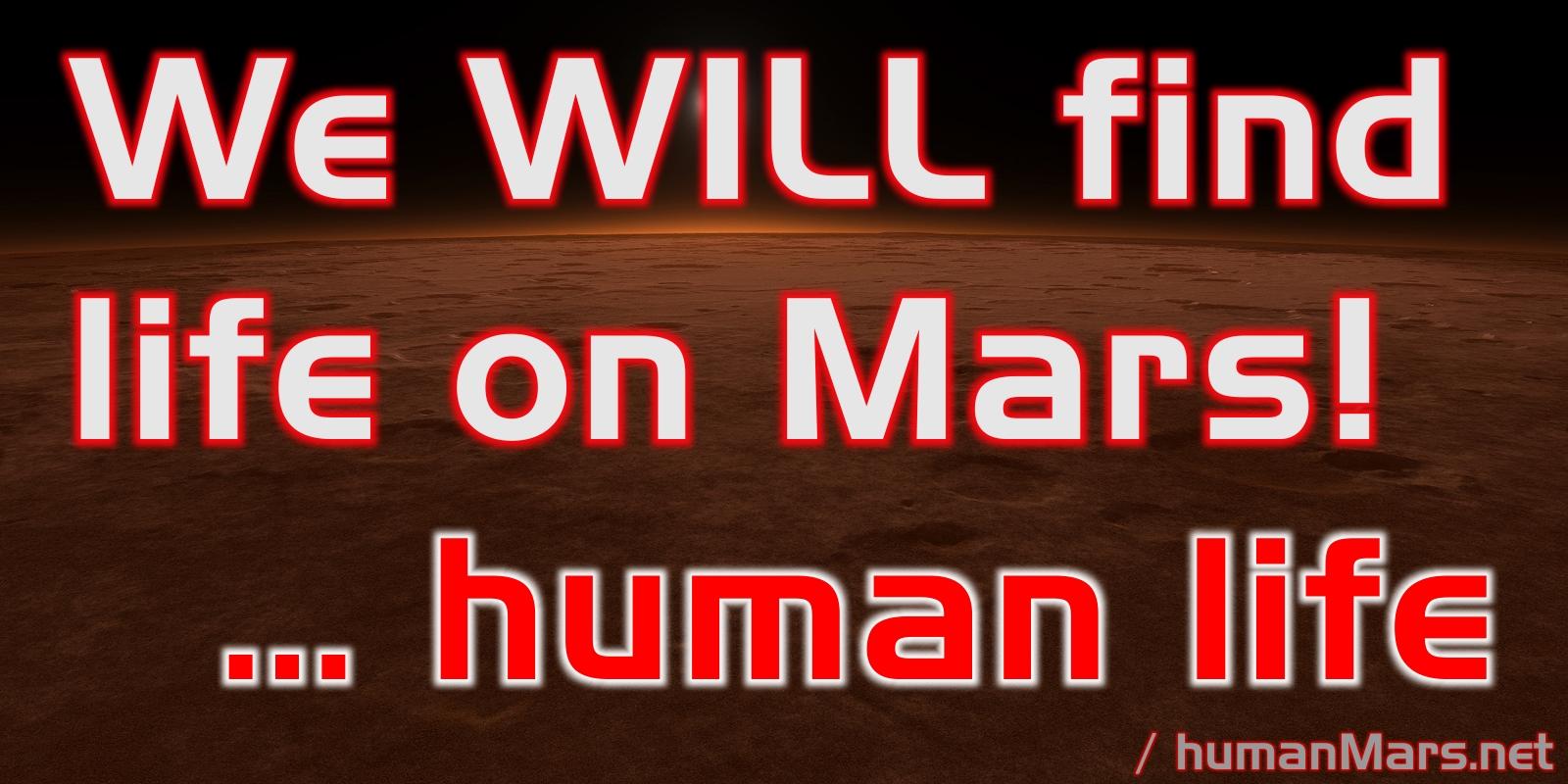 human life on Mars