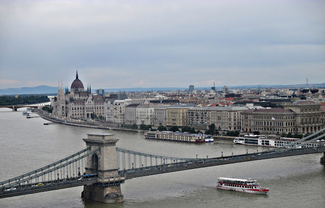 Budapest on the banks of river Danube