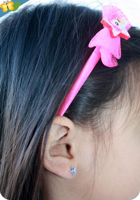 Boucles d'oreilles autocollantes et serre-tête My Little Pony