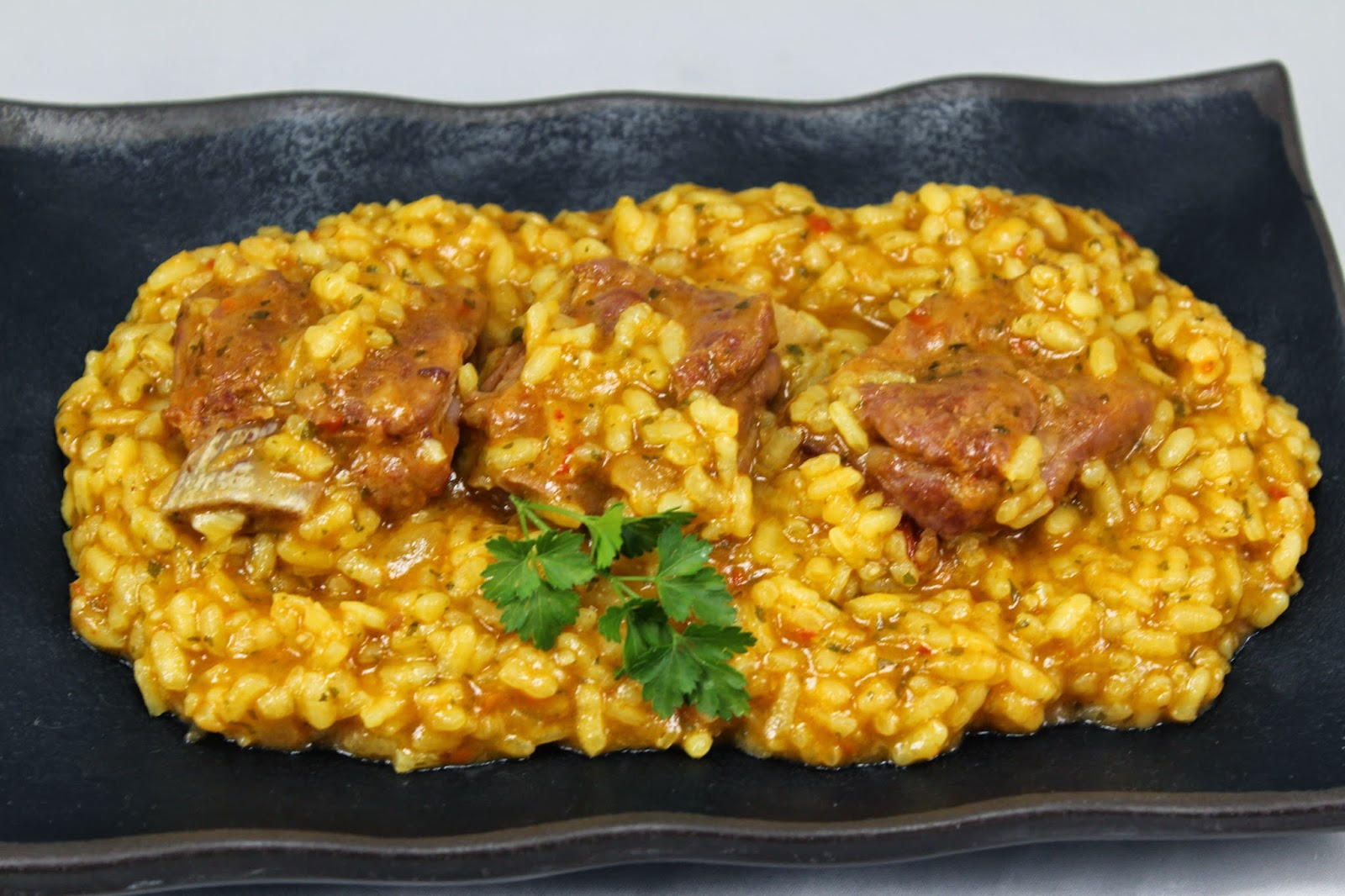 Arroz meloso con costillas con Thermomix