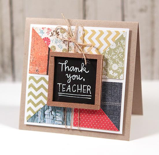thank you teacher card  simon says stamp blog
