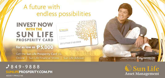 Invest Now with the Sunlife Prosperity Card