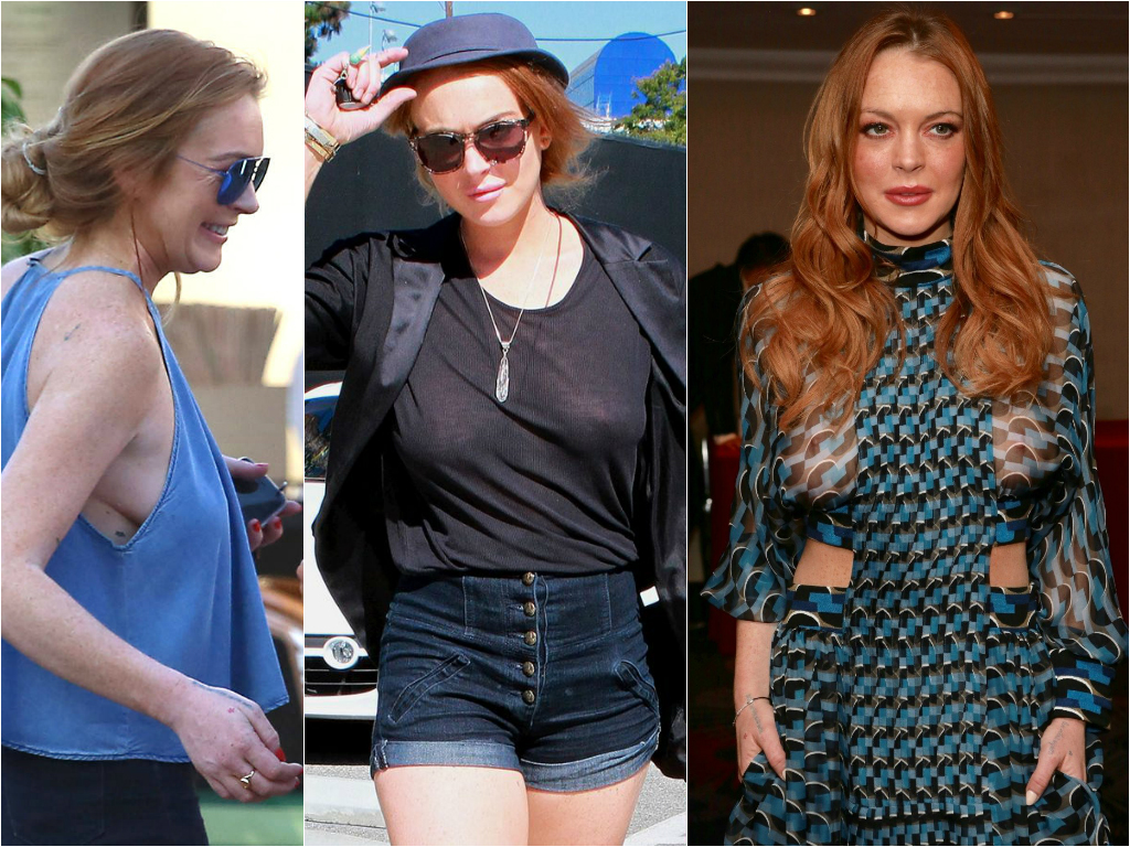 50 Times Celebs Went Braless - Stars who go braless 16